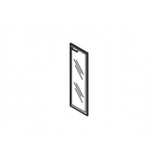 Gr-04.1R Дверь стеклянная в рамке МДФ